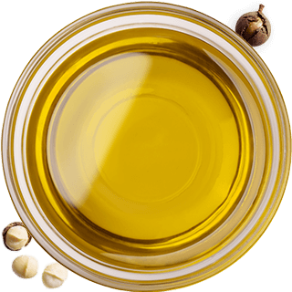 bowl of macadamia oil